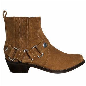 DKNY NWOB Mina Ankle Boots Cowboy Western 8